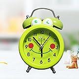 OLILEIO Rana Despertador retro Bell, estudiante, reloj alarma, reloj de cabecera infantil de...