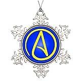 dobend personalisierbar Weihnachten Weihnachtsbaumschmuck Atheist Symbol Retro Schneeflocke ornaments