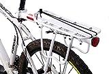 West Biking Alu Fahrrad gepäckträger max Belastung 50kg, max Sitzsäule Rohrdurchmesser 33mm mit Reflektor einstellbar Schwarz, weiß (weiß)