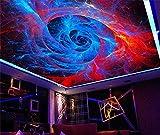 Muraon HD Wandbild benutzerdefinierte 3D-Fototapete Decke Zimmer Wandgemälde abstrakte Spirale Muster Landschaft Zenith Decke Malerei HD 3D Foto Vlies Wandbild, 250x175 cm (98.4 von 68.9 in)