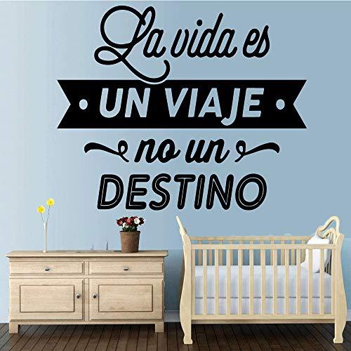 Colorful spagnolo lettera decorazioni per la casa in PVC Decal Nursery Room Decor per bambini Camere Fai da te Decorazione della casa Oro 43 * 52 cm