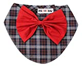 #6: Dog-O-Bow Check Scarf with Crisp red Bow for a Formal, semi Formal Look