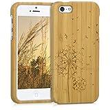 kwmobile Apple iPhone SE / 5 / 5S Hülle - Handy Bambus Schutzhülle - Cover Case Handyhülle für Apple iPhone SE / 5 / 5S