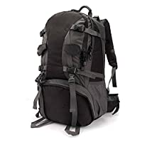 MMPY Large Capacity Waterproof Riding Backpack Outdoor Mountaineering Bag Men And Women Travel Backpack (Color : Black, Size : 40L)
