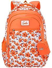Genie 36 Ltrs Orange School Backpack (CAMELLIA19SBORN)