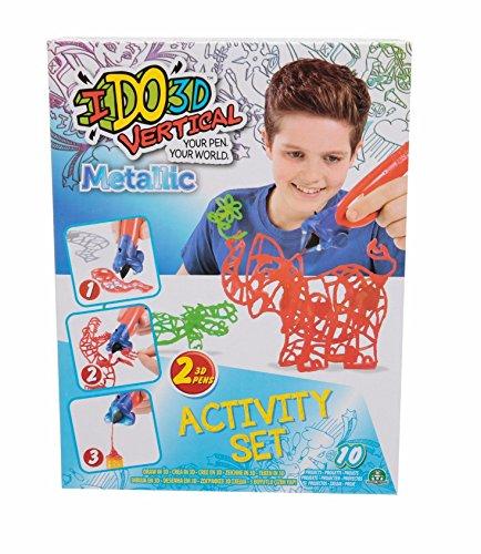 Giochi Preziosi Giochi Preziosi-IDO3D Vertical Activity Set Metallic con 2 Penne, Tema Zoo, Disegno e Creazione in 3 Dimensioni, D3D16200