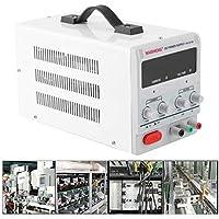 Laurelmartina Fuente de alimentación Ajustable 30V-10A DC Fuente LED de Alta precisión de visualización Digital Fuente de alimentación Variable Herramientas de Laboratorio Digitales