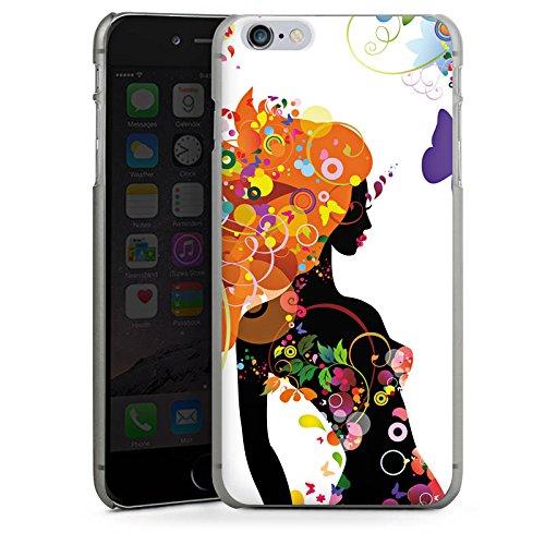 Apple iPhone X Silikon Hülle Case Schutzhülle Frau Schmetterling Blumen Hard Case anthrazit-klar
