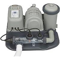 Intex Combo - Depuradora de cartucho y cloración salina, 26.500 litros