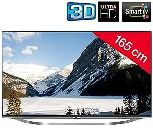 LG 65UB950V - Téléviseur LED 3D Smart TV Ultra HD + Kit n°4 - Support mural fixe + câble HDMI