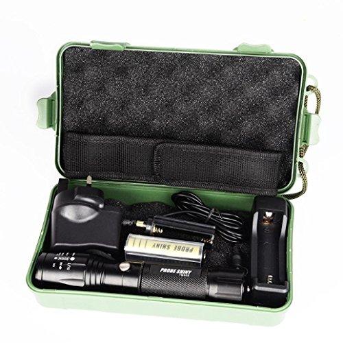 Preisvergleich Produktbild Taschenlampe, ourmall 5000Lumen Bedienung X8005Modi Zoomable XML T6wiederaufladbare LED Taschenlampe + 18650Akku + Ladegerät + Fall