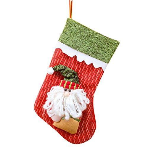 Xshuai Qualität 30cm * 20cm frohe Weihnachtgeschenke Süßigkeit-Korn-Weihnachtsweihnachtsmann-Schneemann-Socken-Dekorationen (multi Art A / B) (A)