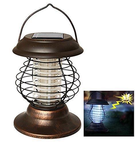 BABI Indoor Wireless Solar Power Mosquito Killer UV-Lampe, Insektenpest Bug Zapper Sensor Licht für Camping, Angeln oder Wandern-2 Lichtmode mit 360-400mm Lichtstrahl (2 Pcs)