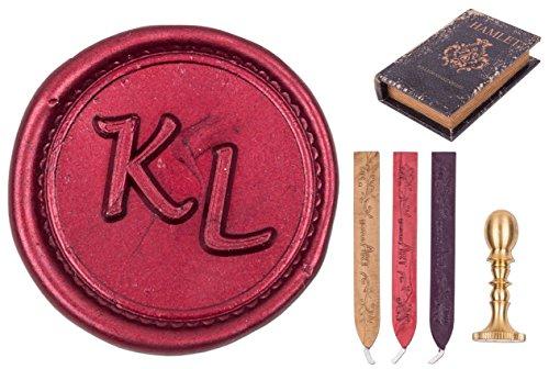 Siegel-Set Hamlet, Mini-Siegel-Stempel Initialen-Gravur Monogramm 2-3 Buchstaben