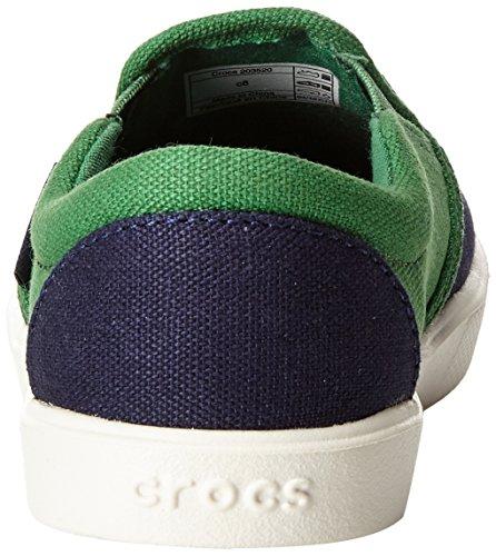 crocs CitiLane Slip-on Sneaker, Unisex-Kinder Sneakers Blau (Navy/Kelly Green)