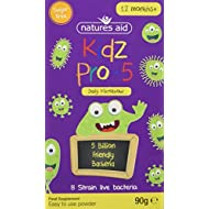 Natures Aid Kids Pro-5 Children's Probiotic Powder (90 g, 5 Billion Live Cultures, 8 Strain Probiotic, Sugar Free, Vegan Society Approved, Made in the UK) 12 Months Plus