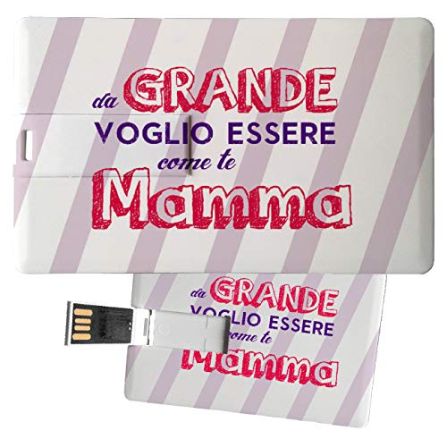 My Custom Style Pen Drive USB Kollektion 1#Muttertag 4/8/16 Gb Credit Card_8 GB FestaMamma Grande -