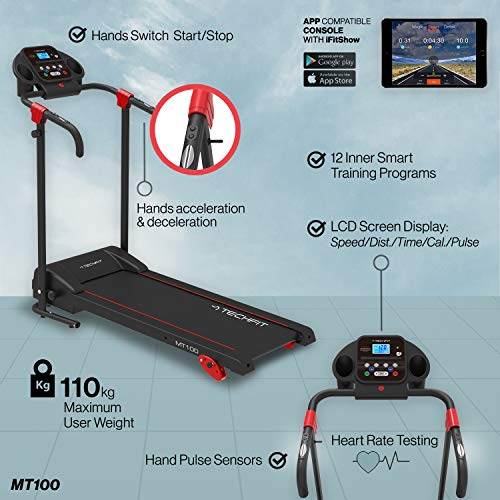 Zoom IMG-3 techfit mt100 tapis roulant elettrico