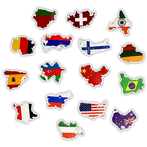 Coogel 50pcs national Flags Stickers Toys for Kids chlidren DIY Countries map Sticker Scrapbooking Decal Graffiti Patches Craft Scrap Books Card Making Flag Children''s Toy Country travel (Book Sticker Graffiti)