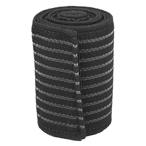 Dilwe Vendas Elástico para Rodillas Vendaje de Compresión Transpirable Soporte de Rodilla para Deportes al Aire Libre(Negro)