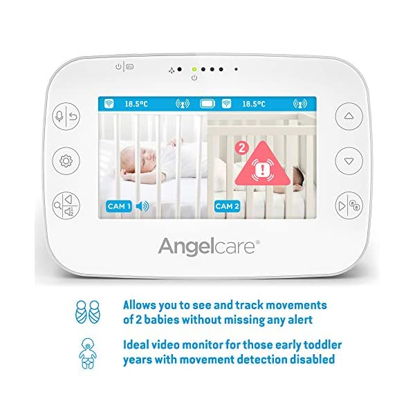 Angelcare Ac327 Baby Movement Monitor, with Video Angelcare New smaller, wireless sensasure movement sensor pad Alarm will sound if there is no movement after 20 seconds Non-contact monitoring 4