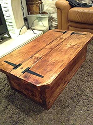 Morbihan a rustic hand made coffee table/Chest
