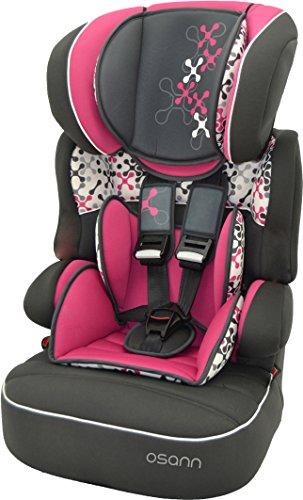 Auto Osann di lana per bambini con seduta BeLine SP Luxe, (9-36 kg), gruppo 1 // 2 3, di ca, 9 mesi a 12 anni, cresce insieme al bambino e poggiatesta, Corail rosso lampone rosa