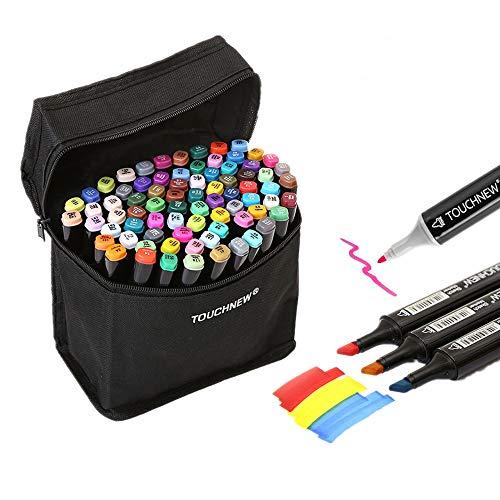 Togood | 40diversi colori per bozzetti artistici: pennarelli, due punte - fine e spessa | Set professionale di pennarelli per colorare, dipingere, manga, design | Per adulti e bambini
