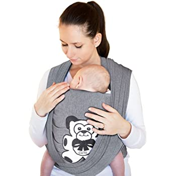 Baby Wrap Sling Carrier Newborn 95 Cotton 5 Spandex Soft