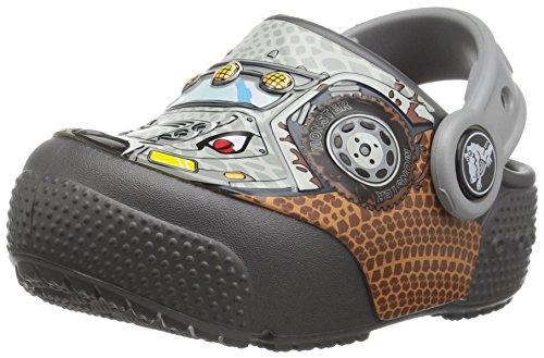 crocs Unisex-Kinder FunLabLightClgK Clogs, Mehrfarbig (Monster Truck/Graphite), 25/26 EU