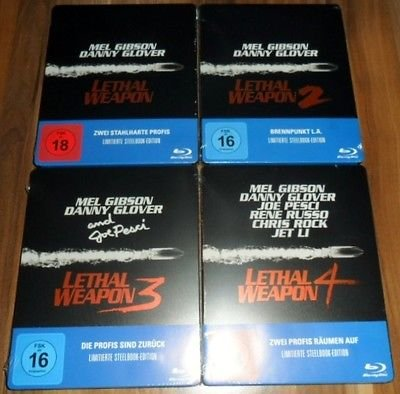 LETHAL WEAPON 1-4 (Blu-ray) Limited Steelbook (Blu-ray-lethal Weapon)
