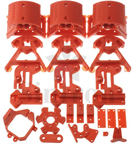 [Sintron] Kossel Mini Plastic Printed Parts full kit for MK8 Extuder RepRap Rostock Delta 3D Printer 3D Drucker, PLA Red (Bottom Motor Mount)