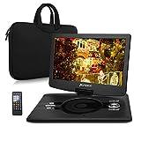Lettore DVD portatile 12.5 pollici schermo Pumpkin, circa 5 Ore di gioco, Lettore DVD/CD/MP3/Video, Lettore USB / SD Card, Ingresso AV IN / OUT, include Valigetta immagine