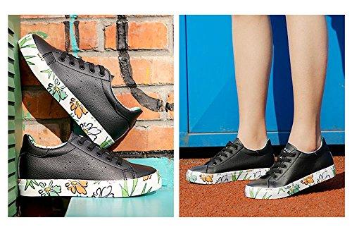 ALUK- Printemps et automne version coréenne de la tendance des chaussures à bas prix chaussures d'impression ( couleur : Noir , taille : 36 ) Noir