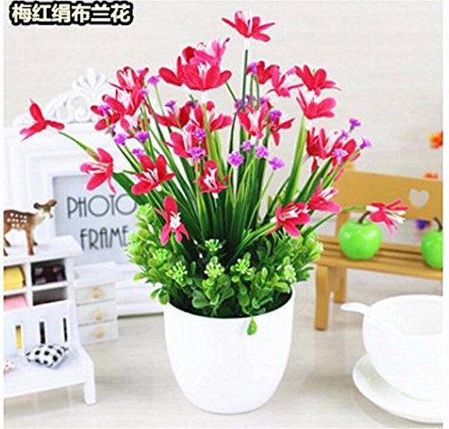 MEILI FLOWER The Orchid Green Topfpflanze Blume von Simulation Blume in Kunststoff Kit Blume von Seide künstliche Schaukel Schalttafel Vasen zeigt Bonsai, B (Seide Blume-kit)