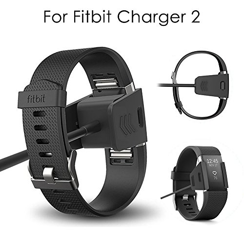 Fitbit Charge 2 Charger 2 Packs CAVN Replacement USB Charging Cable Charger Cord For Fitbit Charge 2 Heart Rate Fitness Wristband
