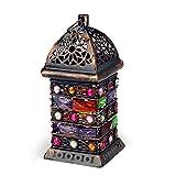 Orientalische Laterne Windlicht Balkon Garten Deko Lampe Marokko Orient Dekoration Weihnachtsdeko Adventsdeko (Einzeln - Design 1)