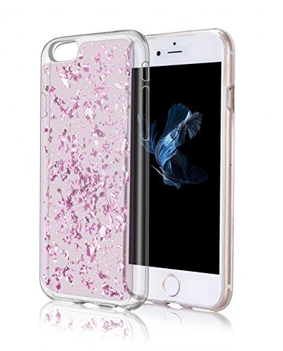 OKCS Golden Glory - pour Apple iPhone 6 Plus, 6s Plus TPU Etui Crystal Clear Housse de Protection Case Cover - en Sky Silver Ruby Rose