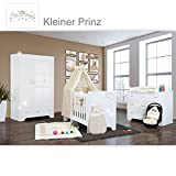 Hochglanz Babyzimmer Memi 19-tlg. mit Textilien Kleiner Prinz in Beige
