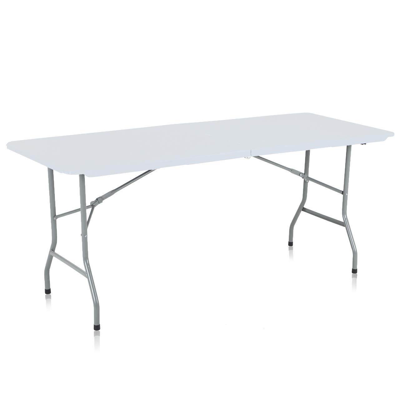 Partytisch Klappbar.Strattore Campingtisch Bierzelttisch Gartentisch Buffettisch Esstisch Partytisch Klappbar Mit Tragegriff Aus Kunststoff 180 X 70 X 74 Cm In Weiß