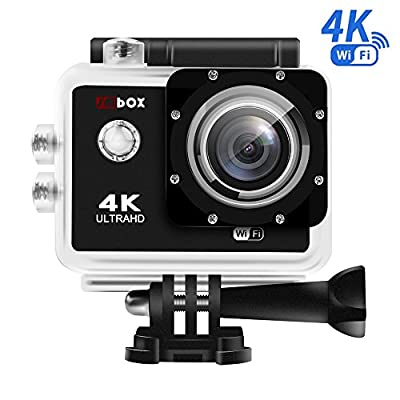 Sports Camera - SMBOX 1080P Ultra HD 2.0 Inch 170 Degree Ultra-Wide Angle Lens Waterproof Wireless Action Camera Diving Cam DV Camcorder Kit with 20 Accessories