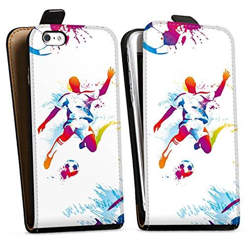 Apple iPhone 6s Plus Silikon Hülle Case Schutzhülle Fußball Sport Stürmer Downflip Tasche schwarz