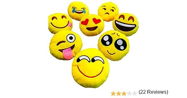 LI/&HI Emoji /émotic/ônes oreiller Rire coussin pr/ésident Oreiller Coussin de si/ège rond Grin