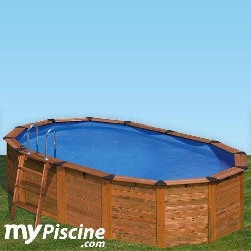 Gre - piscine bois island 635 x 420 h120 cm