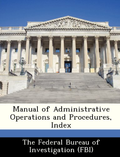 Manual of Administrative Operations and Procedures, Index