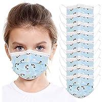 KARAEASY 10 pcs Taglia Bambini Protezione del Viso in Meltblown Tessuto Non Tessuto nasello regolabile, Consegna entro 48 ore