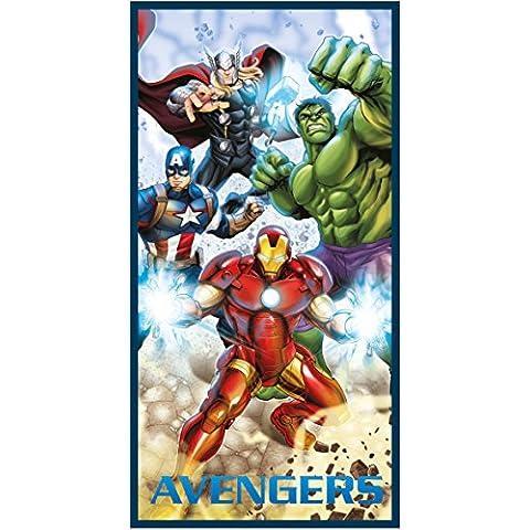 Avengers Oficial 100% algodón toallas de playa Baño, Gimnasio, Natación para Niños niñas | Ironman, Capitán América, Hulk y Thor
