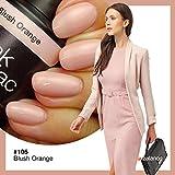Pink Gellac 105 Blush Orange UV Nagellack. Professionelle Gel Nagellack shellac für mindestens 14 Tage perfekt glänzende Nägel