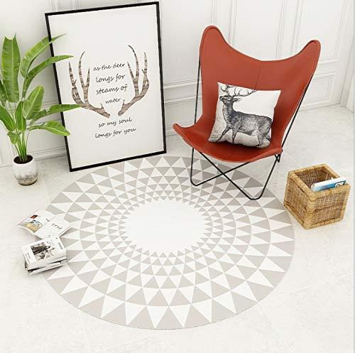 Lkrou Teppich Familie Set Runde Geometrie 3D gedruckt Teppich Wohnzimmer Couchtisch Kinderzimmer Schlafzimmer A11 Kinderzimmer-120X120cm