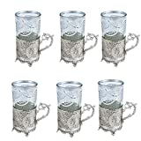 Craftghar:Tea Cup Set of 6 | Metal and G...